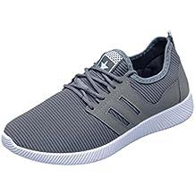 Zapatillas Deporte Hombre❤️ZARLLE Zapatos Para Hombres Casual Zapatos De Gimnasio Cruz Atado De Zapatos