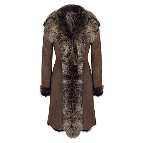 Cappotto Opaco Lungo da Donna Colore Marrone in Montone Fatto su Misura  Marrone L - 14 159211fc8f1