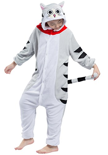 Enfants Unisexe Animal Cosplay Kigurumi Pyjama pour taille 90-146 cm - Chat Tigré