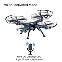 LAMASTON Drone with 720P HD Camera & Bonus Battery RC Helicopter Support Altitude Hold One Button Take Off Headless 3D Flips Quadcopter, 4C 6axis FPV RTF wifi Wireless quad Airplane Remote Controlled