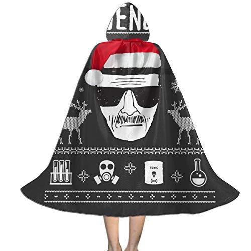 NUJIFGYTCRD Breaking Bad Heisenberg Weihnachten, Unisex-Kapuzenumhang mit Kapuze, Halloween, Weihnachten, Party, Dekoration, Rolle, (Breaking Bad Unisex Für Erwachsene Kostüm)