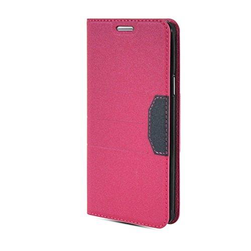 MOONCASE Coque en Cuir Portefeuille Housse de Protection Étui à rabat Case pour Apple iPhone 6 Plus saphir Hot Rose