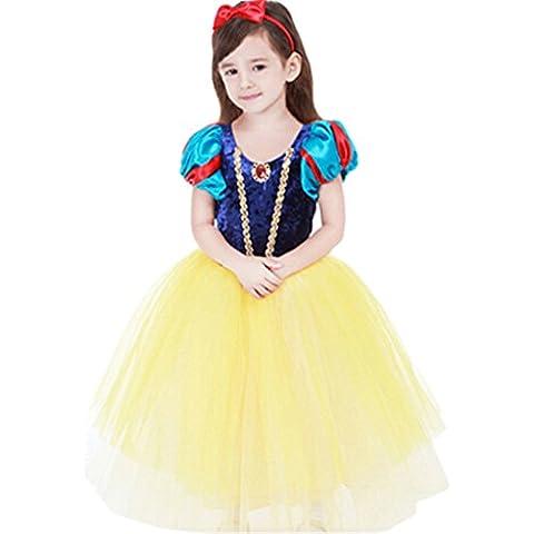 Ninimour Vestido espeso de princesa Blancanieves Disfraces para Halloween Cosplay Costume para