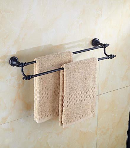 AXJa Europäisch bronzeartig, Toilette, Ober- und Unterseite der Saiten beheizter Handtuchhalter, doppeltes Haar-Handtuch aus massivem Messing