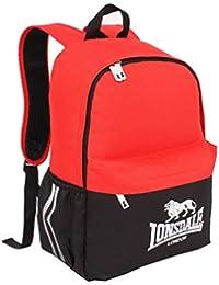 c9f0f5a476340e Lonsdale Tasca Zaino Rosso/Nero Zaino Borsa Sportiva Borsa da Ginnastica  Kitbag, Red/