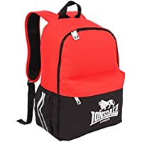 d52506666f Lonsdale Pocket Backpack Red Black Rucksack Sports Bag Gymbag Kitbag