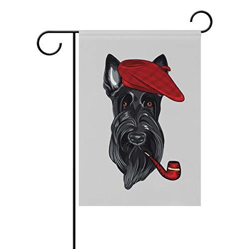 FAJRO Hund Rauchen Yard Flaggen Garden Flagge Home Dekorationen Doppelseitig, Polyester, 1, 12x18(in) -