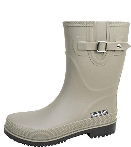 BOCKSTIEGEL® JETTE - Standard/K/KB Bottes de pluie courtes pour Femmes | Boucle latérale à la mode | Logo | Production européenne | Confortable K grey / black