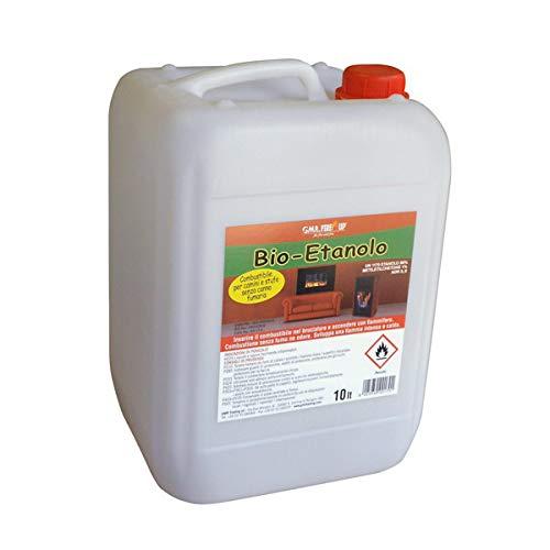 Bioetanolo 10 lt combustibile ecologico naturale biocamino