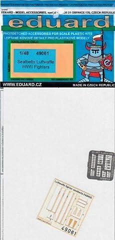 Eduard Photoetch 1:48 - Luftwaffe fighter seatbelts (Fabric) (EDP49061)