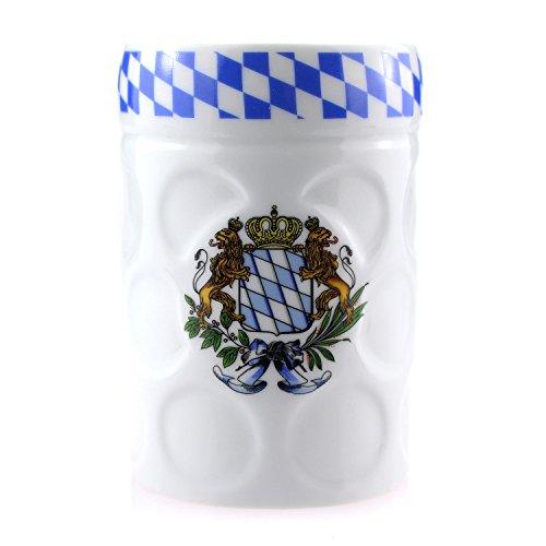 Bavariashop Maßkrugtasse, Bayerisches Kaffeehaferl in Maßkrug Form, Kaffeetasse in Ausgefallener Form, Geschenkidee