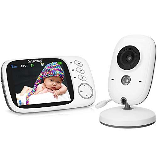 Babyphone 3.2 Zoll Babyphone mit Kamera Video Überwachung Smart Baby Monitor TFT LCD Digital dual Audio Funktion,Temperatursensor, Schlaflieder, Nachtsicht, Gegensprechfunktion
