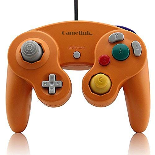 Childhood Clásico USB con cable controlador Gamepad para PC y Mac NGC naranja