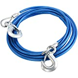 Car Vehicle Boat Steel Wire Tow Rope Towing Pull Strap Rope With Hook Heavy Duty Car Tow Cableeel Wire Tow Rope