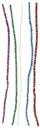 Darice Chenille Glitter Vorbau, Multi, 6mm x 30,5cm (6 Mm Vorbau)