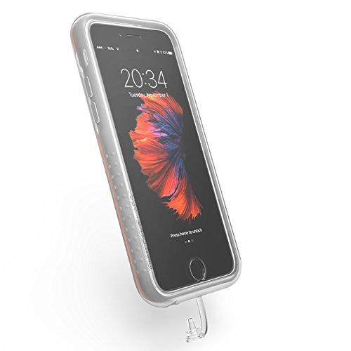 MORPHEUS LABS XtremeCover für M4s / M4 Case für Apple iPhone 6 / 6s, RainCover, Schutz vor Schmutz und Feuchtigkeit; Kopfhörer und Kamera nutzbar, transparent