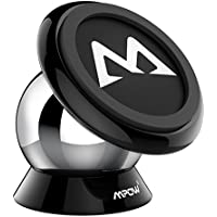Magnetic Phone Holder, Mpow 360° Rotatable Car Phone Mount Sticky Magnetic Car Mounts Dashboard Phone Mount Cradle for iPhone X/10 8 7 6s 5 5S Samsung Galaxy S8 S9 S7 LG HTC Sony Huawei P20 and Other Smartphones