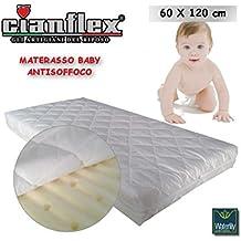 materasso lettino baby antisoffoco 60x120 cm