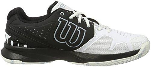 Wilson Kaos Comp Bk/Wh/Pearl Blue, Chaussures de Tennis Homme Multicolore (Black/White/Pearl Blue)