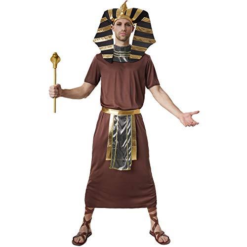 dressforfun 900551 - Herrenkostüm Pharao Ramses, Herrschaftliches Pharaonen-Kostüm aus dem Alten Ägypten (M | Nr. 302534) (Mann Halloween Alter Und Frau Kostüme)