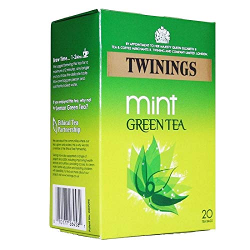 Twinings Green Teas   Pure Light Delicate Mint   4 x 20 Bags