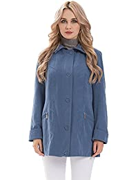 42052799cf52 MSVASSA Parka Coat Women Spring Jacket Plus Size Coat Turn-Down Collar Pink  Blue 10