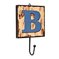 Panda Legends Creative Retro Style Wall Hooks Wood Material Letter Pattern Decorative Hook (B)