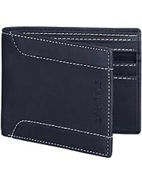 Laurels Orson Blue Color Men Leather Wallet- LWT-OSN-03