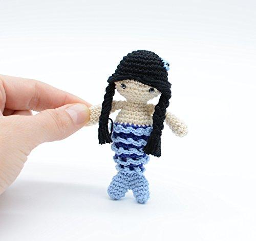 Meerjungfrau Plüsch Puppe, schwarze Sirene, magische Fee Spielzeug, Wasser Kreatur (Plüsch Sirene)