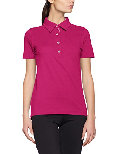 James & Nicholson Damen Poloshirt Ladies´ Plain Polo Rot (Purple-White)