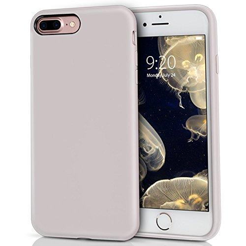 MILPROX iPhone 8 Plus Silikon Hülle, iPhone 7 Plus Silikon Hülle Silikon-Handyschale, Nette flüssige Silikons, stoßsicheres Futter aus Mikrofaser, geeignet für iPhone 7 Plus/8 Plus-Licht violett