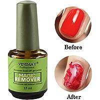 15ML Removedor de esmalte de uñas,Esmaltes de Uñas Gel UV Removedores Soak off Manicura y Pedicura,Eliminación de manicura Pegamento Manicure Magic Nail Remover Uñas Líquido de eliminación,estallido
