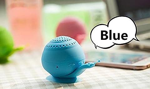 Mini son support Chickwin nouveau support de téléphone ventouse escargot mini haut-parleur portable Bluetooth Bluetooth créatif audio (Bleu)