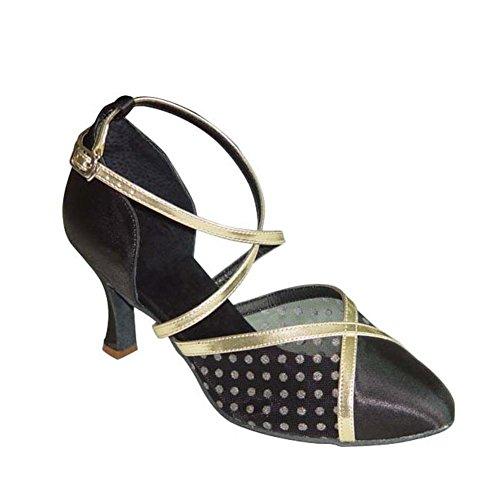 Gesellschaftstanz Damenschuhe/Walzer-Schuhe/ mittleren Absätzen Fox Trot Tanzschuhe B