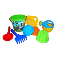 Polesie 580 179 Decorated Sieve, Shovel, Rake No.2 3 Forms, Watering Can No.3-Sets: Flower Bucket, Small, Multi Colour
