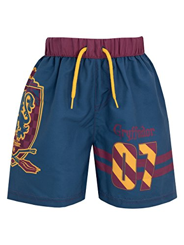 Harry Potter - Pantaloncini da Bagno Ragazzi - Gryffindor - 10 - 11 Anni