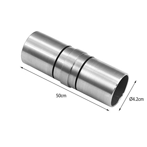 MonsterShop Handrail Straight Connector, 42mm Circular Staircase Bannister Rail, Stainless Steel