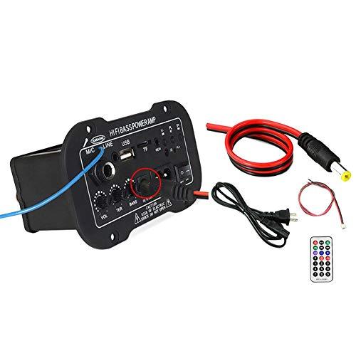 H-sunshy Subwoofer Amplificador de Potencia Tablero del Coche Bluetooth Amplificador de Audio...