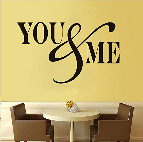 Wuyyii You And Me Diy Stickers Removable High Quality Calligraphy Art Mural Pvc Home Decor Gift Wall Stickers For Kids Rooms Decoration 72X43Cm