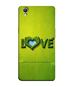 FUSON Designer Back Case Cover for Oppo A37 (Quote Love Heart Messages Crazy Express Sorry )