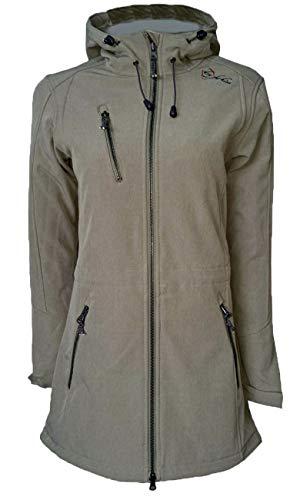 Dry Fashion Damen Softshell Mantel Kampen, Größe:46, Farbe:olivgrau