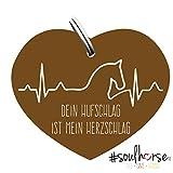 Pferde Glücksmarke '#Herzschlag' Sondermarke in bronze von Soulhorse fürs Halfter, Trense und Zaumzeug