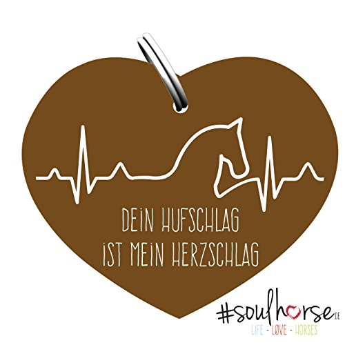"""Pferde Glücksmarke \""""#Herzschlag\"""" Sondermarke in bronze von Soulhorse fürs Halfter, Trense und Zaumzeug"""