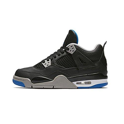 Jordan Big Kids Air Jordan IV Retro GS black soar-matte silver-white Size 6.5 US -