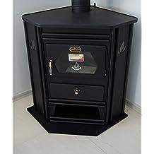 estufa de lea chimenea de esquina modelo solid fuel log quemador prometey