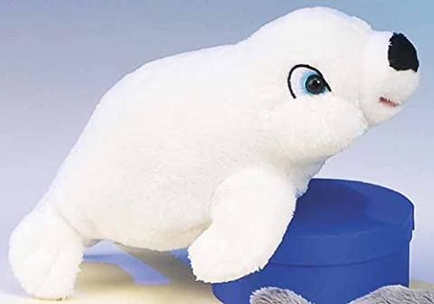 Plush White Stuffed Seal 8 for Infants & Children Washable Plush