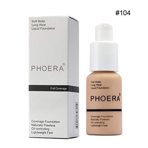 Prima05Sally PHOERA Perfect Beauty Face Basis für flüssige Foundation Weiche, Matte, langanhaltende Ölgrundierung (Flüssige Matte-foundation)