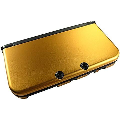 Pandaren® Custodia Cover di protezione in metallo alluminio per New 3DS XL (arancione)
