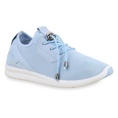 Damen Laufschuhe Runners Pastell Sneakers Sportschuhe Hellblau