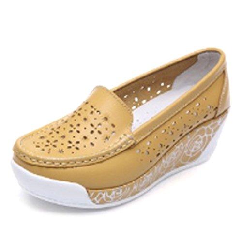 Solshine , chaussures compensées femme Jaune